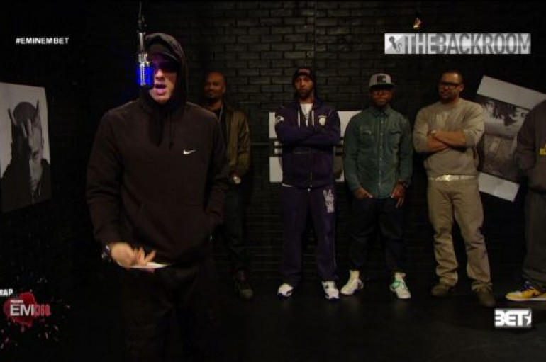 Eminem & Slaughterhouse Freestyle in the Backroom (BET)