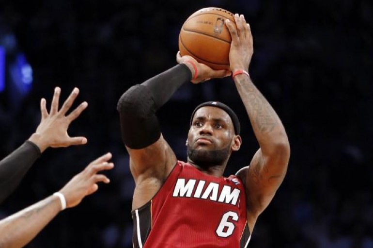 LeBron Sets Heat Franchise Playoff Record (49 Points)