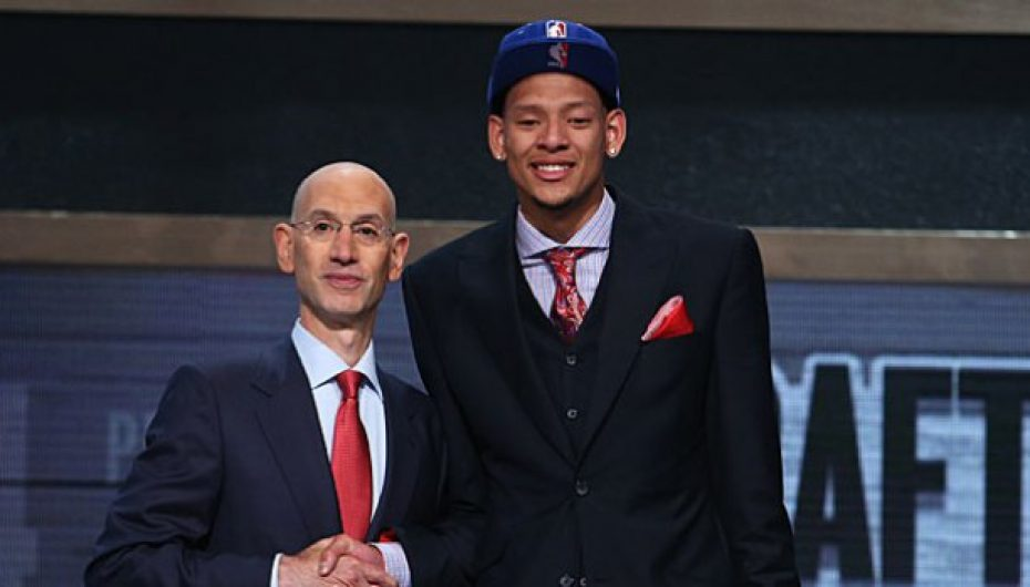 Commissioner Of The NBA Drafts Isaiah Austin