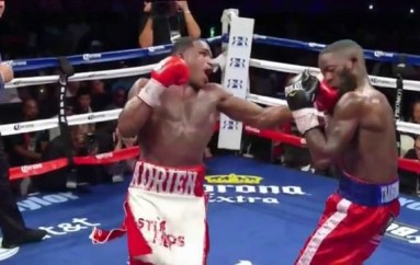 Adrien Broner Knocks Down Emanuel Taylor