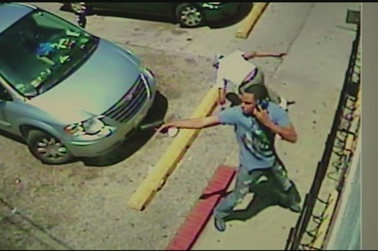 Cincinnati: Man Talks On Cellphone While In A Gunfight. Metro Bus Hit.