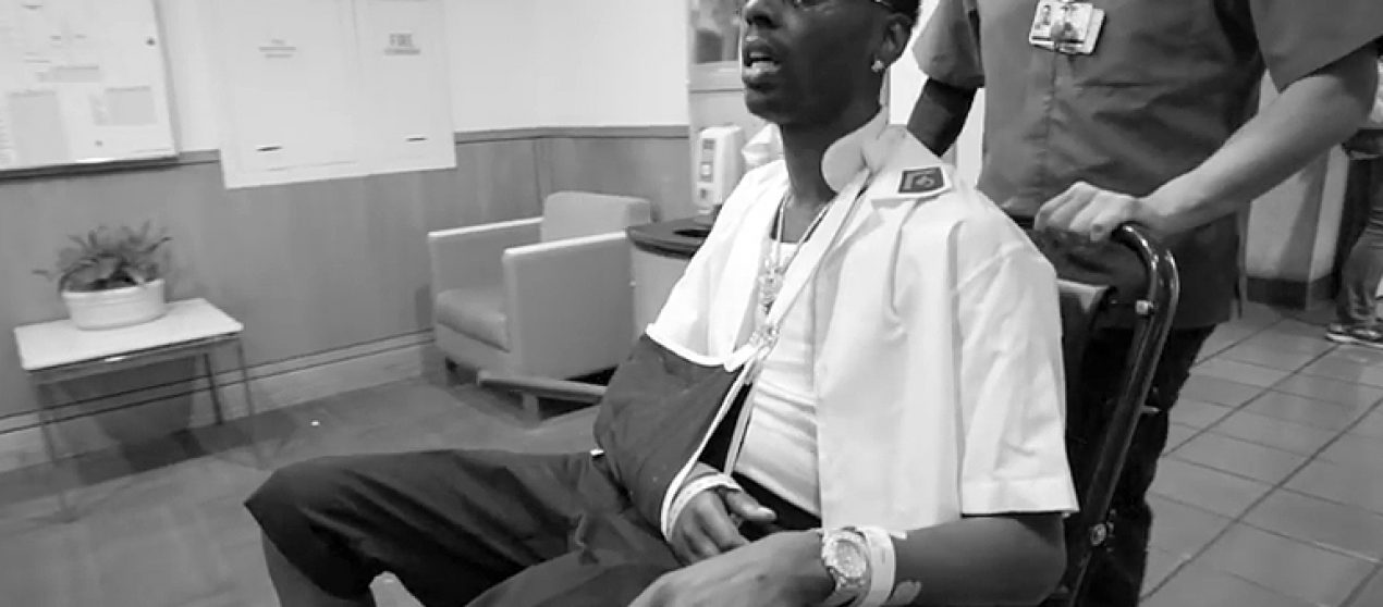 "Young Dolph Shoots ""Believe Me"" Music Video While Still In The Hospital"